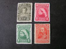 NEWFOUNDLAND, SCOTT # 78-88(3)+82, TOTAL 4, 1897-1901 ROYAL FAMILY  ISSUE MH