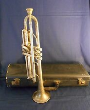 VINTAGE CARL FISCHER, N.Y./ CZECH., ZEPHYR CORNET, with CASE, AND MOUTHPIECE