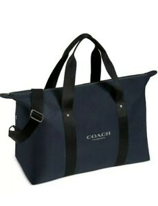 COACH DUFFLE BAG WEEKENDER BAG GYM TRAVEL BAG CARRY ON LUGGAGE NAVY BLUE NEW