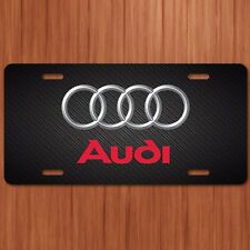 Audi Vehicle License Plate, Front Auto Tag S4 S5 TT RS A4 A6 A8 NEW 4 rings