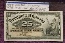 1900  CANADA, 25 CENTS, Cat.#9b., Signature of BOVILLE,  NICE A.U., LOOKS UNC