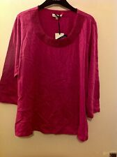 M&S Classic Embroidered Neck 3/4 Sleeve Blouse Size: 14