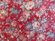 WtW Fabric Vintage Floral Flower Garden Nature Country Cottage BTY Quilt