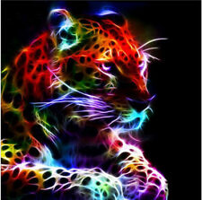 UK Full Drill 5D Diamond Painting Color Leopard Embroidery Cross Stitch Kit Gift