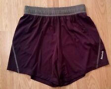 Reebok womens purple active running shorts size S drawstring waist