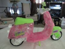 Rare Mattel Barbie Doll Pink Sparkled Moped Vespa Scooter Vehicle