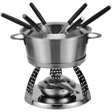 "Fondu-set ""elegante"" 10 piezas fondue fonduetopf acero inoxidable incl. fonduegabeln"