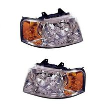 Ford Expedition 03-06 Pair Set of Left & Right Clear Headlights Lamps Eagle Eye