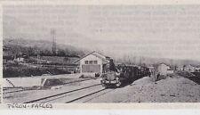 1984  --  TRAIN VAPEUR EN GARE DE PERON FARGES AVANT GUERRE   3F259