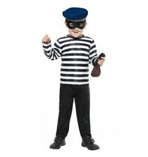 LITTLE BOYS BURLGAR COSTUME - SMALL 4-6 YRS - MELBOURNE LOCATION