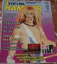 GERMAN METAL HAMMER 1986 TWISTED SISTER+KISS+AC/DC+OZZY+METALLICA+DESTRUCTION