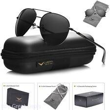 Mens Sunglasses Aviator Polarized Black Luenx Sun Glasses Dark 60mm With Case
