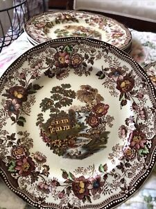 royal staffordshire tonquin clarice cliff Salad plates.  Brown
