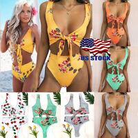 Brazilian Swimwear Bathing Suit Tankini Swimsuit Bra Bikini Set Padded Flower