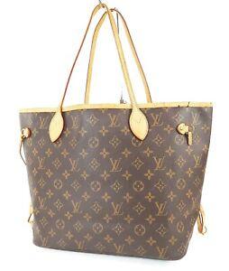 Authentic LOUIS VUITTON Neverfull MM Monogram Tote Bag Purse #38575