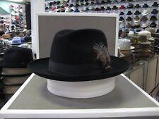 STETSON SUTLEY BLACK FUR FELT FEDORA DRESS HAT