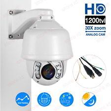 Auto Tracking 1200TVL HD 30X Zoom PTZ IR Night Vision Home CCTV Security Camera