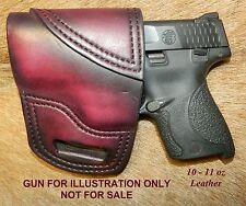 Gary Cs Avenger Xh Owb Left Hand Holster Sampw Mampp Shield 40cal 9mm Leather