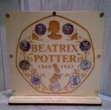 50p 9 coin display album royal mint Beatrix potter  2017 duck  wooden full set