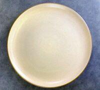 HEATH POTTERY SANDALWOOD 10 3/4 DINNER PLATE BROWN WHITE Mid Century Modern