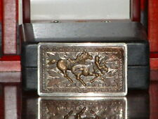 Pre-Owned  Brown Tone Rodeo Bull Wrestle Belt Buckle