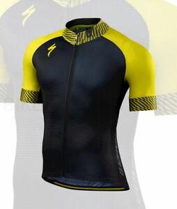 Specialized Men's SL Expert Short Sleeve Cycling Jersey Dot Fade/Limon - Medium