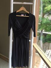 Lovely •Leona Edmiston• Little Navy Dress Sz 8 S EUC