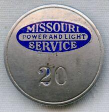1920s Missouri Power and Light Service Employee Badge