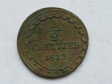 L4181     HABSBURG 1/2 Kreuzer 1812 S