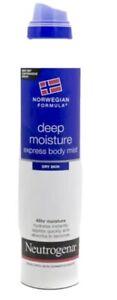 Neutrogena Norwegian Formula DEEP MOISTURE Express Body Mist for Dry Skin, 48hr