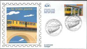 3338+ FDC  ENVELOPPE 1er JOUR  CEF    LE TRAIN JAUNE
