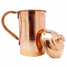 Traditional Indian Copper Jug Kitchenware Serveware Pitcher 1.2 Litre Vessel