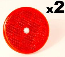 2 réflecteurs circulaire rond E-approved rouge 50mm pour remorque caravane GATEPOST