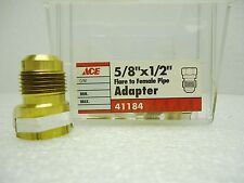"""(NEW) 5/8"""" x 1/2"""" Flare to Female Pipe Adapter 41184 Lot of 3 pcs"""
