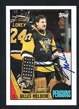 Gilles Meloche #107 signed autograph auto 1987-88 Topps Hockey Trading Card