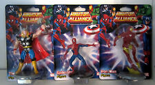 "NEW Miniature 3"" Alliance Marvel Thor, Spiderma,  Iron Man Action Figure Collect"