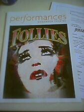 FOLLIES /PERFORMANCES Playbill 2012 Los Angeles Elaine Paige, Victoria Clark NEW
