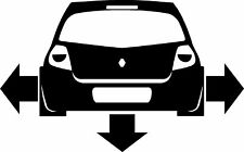 New Renault Clio Down and Out 197 16v Car Sticker Decal