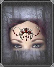 Gothic Tiara Diadem Stirnschmuck Mittelalter Moon Blood Kopfschmuck