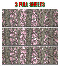 """3 CAMO DECAL MADE FROM 3M WRAP VINYL 48""""x15"""" TRUCK CAMO TREE PRINT CAMOUFLAGE"""