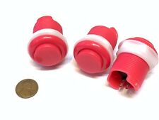 3 Piece Pink Arcade momentary PUSH BUTTON SWITCH DC N/O normally open on/off C16