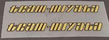 Miyata Team-Miyata Top Tube Decals - 1 Pair - Metallic Gold (sku Miya239)