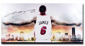 "LeBron James Signed Autographed 36X18 Photo ""Witness Miami II"" Miami Heat UDA"