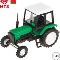 Tractor Scale 1:43 MTZ 82 Belarus Green Russian Farm Vehicle Toy Cars
