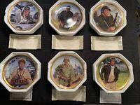 John Wayne Franklin Mint 6 Plate Collection Defender of America Series COA