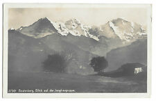 Swizerland, Beatenberg, Blick & Jungfrau RP PPC Unposted, Farm Building To Fore
