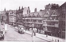 HOLBORN - OLD STAPLE INN  LONDON Bus  Vintage Postcard Valentine's Silveresque