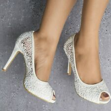 396465d5660 White Lace Court Shoes for sale   eBay