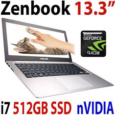 "12GB 512GB SSD Asus Zenbook Intel i7 13.3"" QHD+ Touch nVIDIA GTX Laptop"