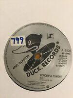"Eric Clapton Wonderful Tonight / Edge Of darkness 7"" Vinyl; Single: Free UK Post"